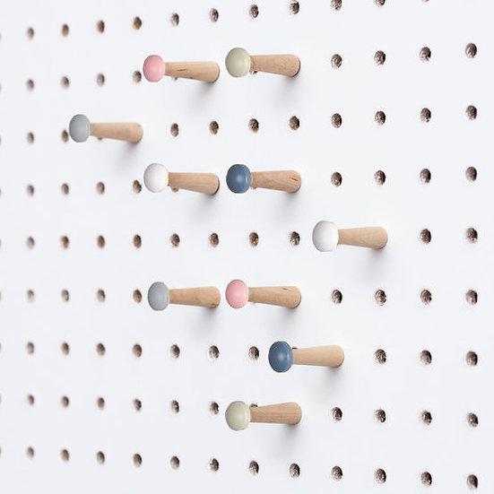 Wooden Pegboard Peg Pack - Scandi  Colors