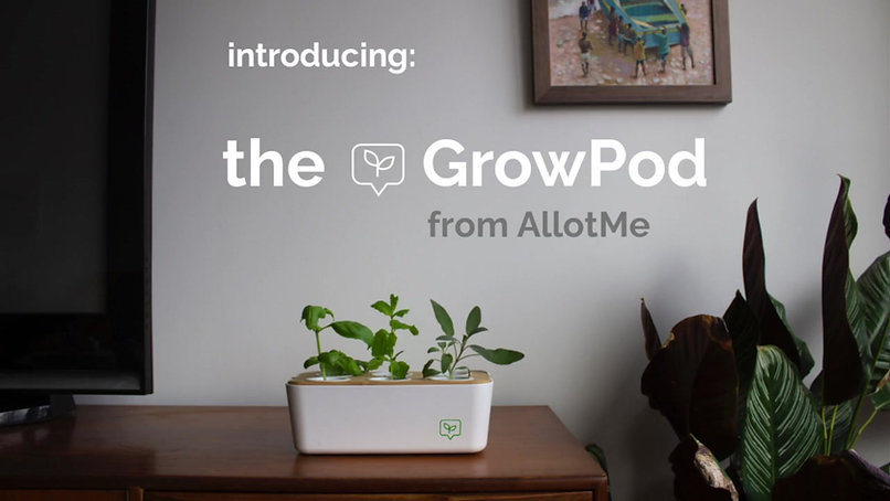 Introducing the GrowPod from AllotMe, the most sustainable hydroponic planter on the market. Grow your own Herbs, veggies and salads at home with ease using the GrowPod.