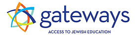 colorful Jewish star with Gateways Access to Jewish Education