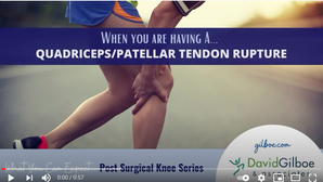 Questions about Knee Surgery? Check out our Post Surgical Knee Video Series