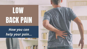 Low Back Pain: How You Can Help Your Pain