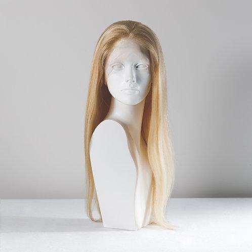 Light blond, around 81 cm