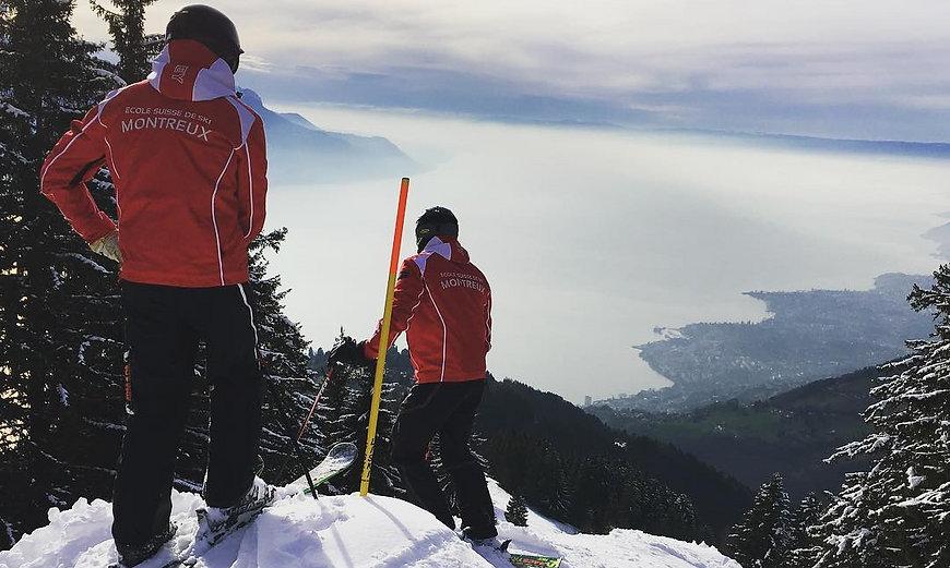Ski lessons on Jaman -  ecole de ski Montreux Riviera ski school