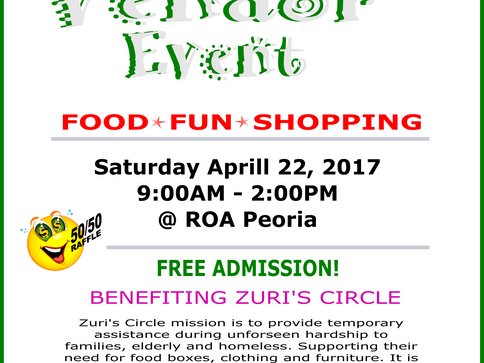 Zuri's Circle Fundraiser Vendor Event
