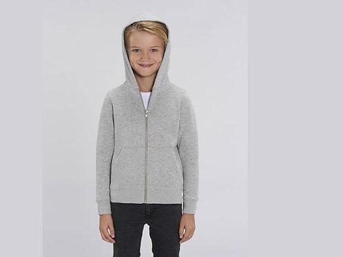 Sweatshirt Garçon - Capuche et Zip - Couleurs chinés