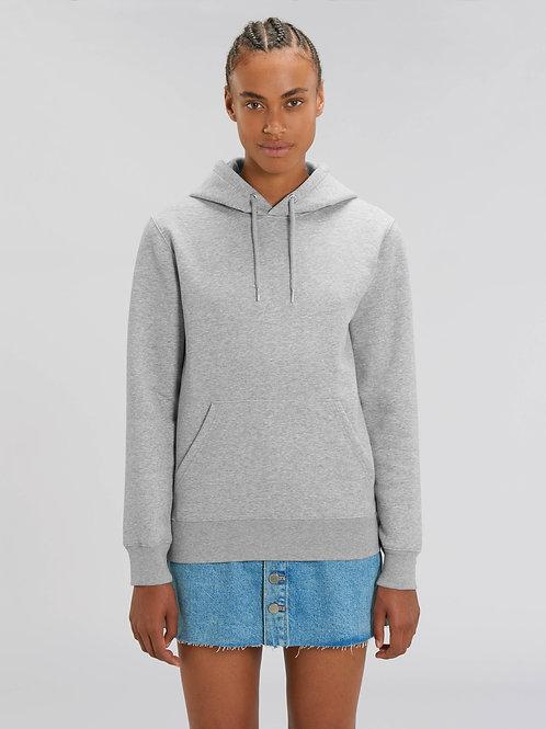 Sweatshirt BIO UNISEXE avec capuche -  GRIS CHINÉ