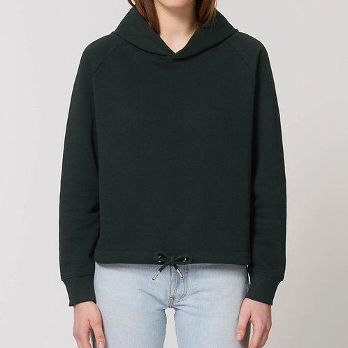 Sweatshirt à capuche bio - coupe large - Court