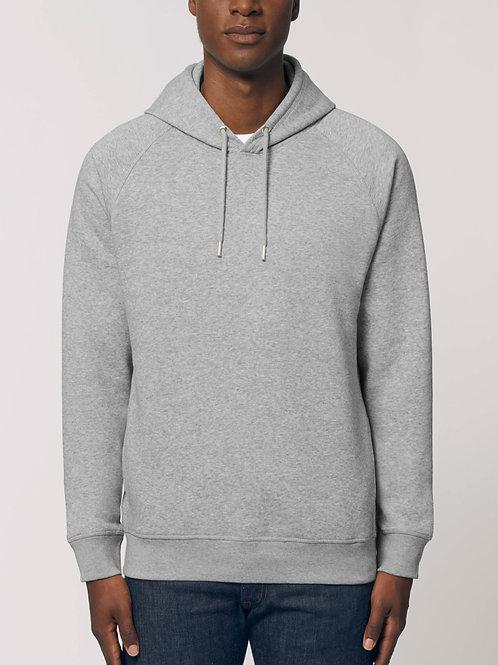 Sweatshirt BIO Homme avec capuche - SIDER - Gris Chiné