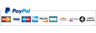 paiement Paypal ou carte bancaire sécurisé