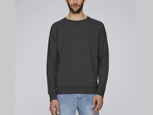 Sweat-shirt Bio Homme Chiné - coloris chinés - Gris  chiné