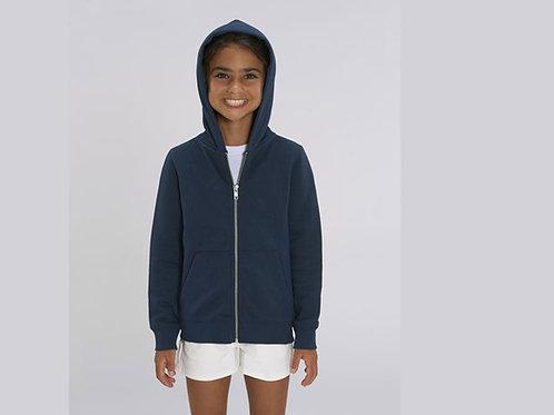 Sweatshirt Fille - Capuche et Zip - Couleurs classiques