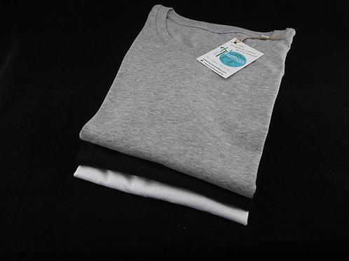 Lot de 3 Tee-shirts 100% Coton Bio manches longues coloris assortis