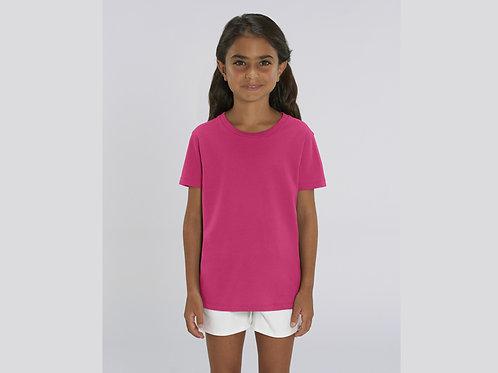 T-shirt bio filles à col rond  - COLORIS CLASSIQUES