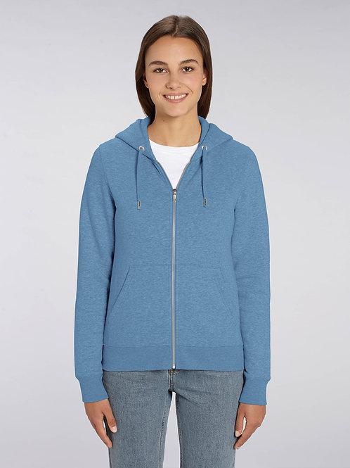 Sweatshirt à Capuche fermeture zip Femme - Chinés - Editor -