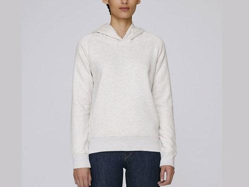 Sweatshirt BIO Femme avec capuche - Crème Chiné