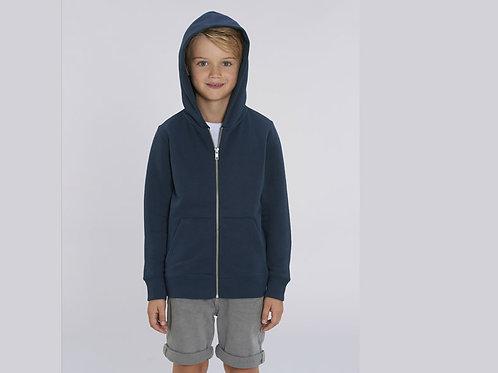 Sweatshirt Garçon - Capuche et Zip - Couleurs classiques