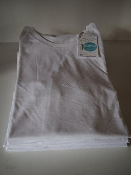 Lot de 5 Tee-shirts 100% Coton Bio doux équitable - Coloris Blanc