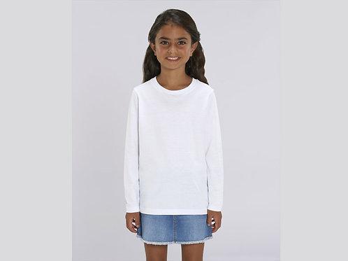 T-shirt bio filles - col rond- manches longues