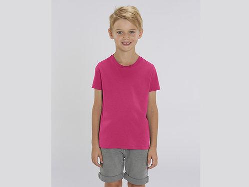 T-shirt bio garçon à col rond  - COLORIS CLASSIQUES