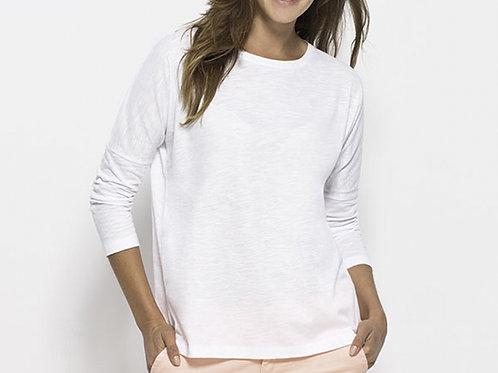 T-shirt manches longues, épaules tombantes - TURN SLUB