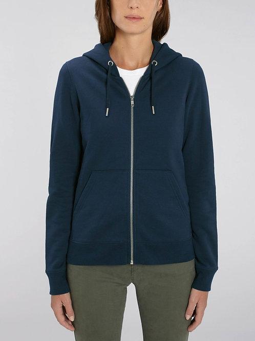 Sweatshirt à Capuche bio  fermeture zip Femme - Editor -