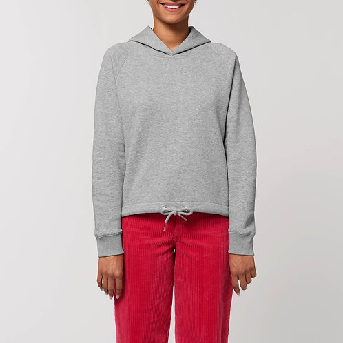Sweatshirt à capuche bio - coupe large - Court -  CHINÉ