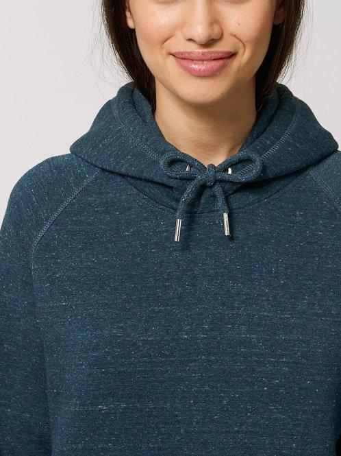 Sweatshirt BIO Femme avec capuche - SIDER - Coloris Chiné