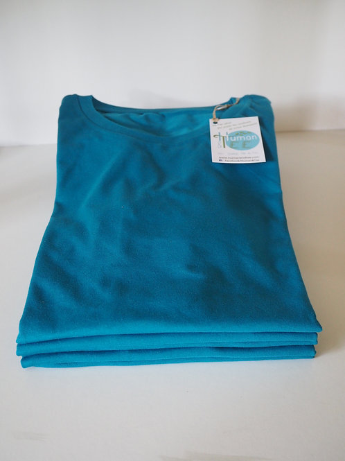 Lot de 5 Tee-shirts 100% Coton Bio doux équitable - Coloris Bleu Océan
