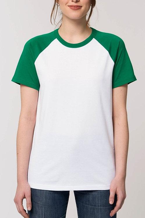 T-shirt Coton Bio - Manches contrastées