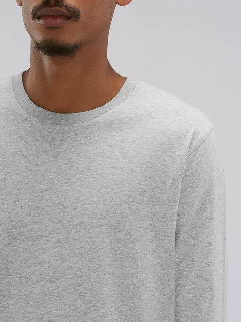 Tee-Shirt manches longues - coton Bio équitable - chiné - SHUFFLER