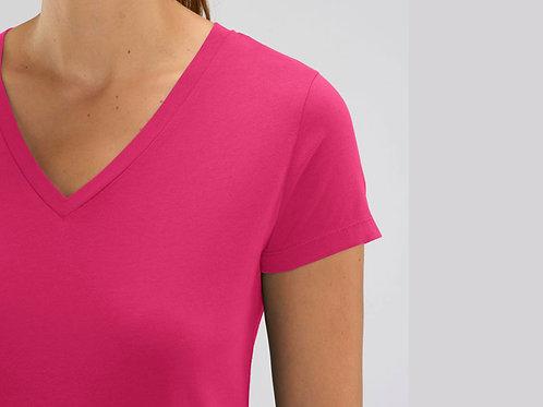 Tee-shirt manches courtes col V - LES COULEURS
