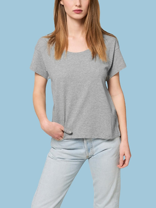 T-SHIRT BIO AMPLE FEMME - COL ROND - CHILLER