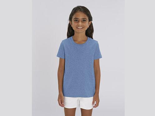 T-shirt bio filles à col rond  - COLORIS CHINÉS