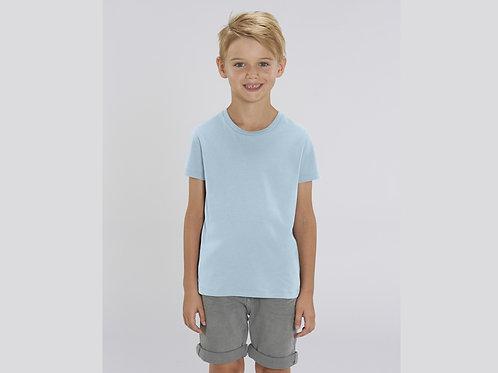 T-shirt bio garçon à col rond  - COLORIS PASTELS