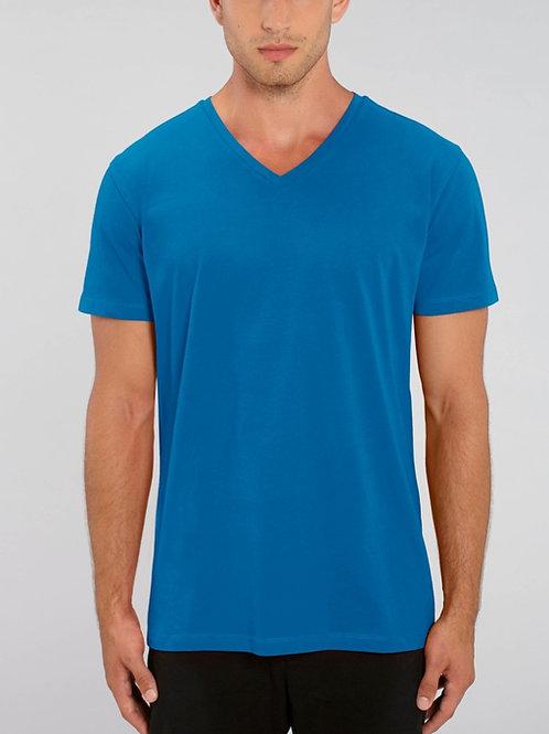 T-shirt 100% Coton Bio  - PRESENTER - col en V