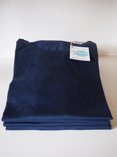 Lot de 5 Tee-shirts manches courtes col rond 100% coton bio Coloris NAVY