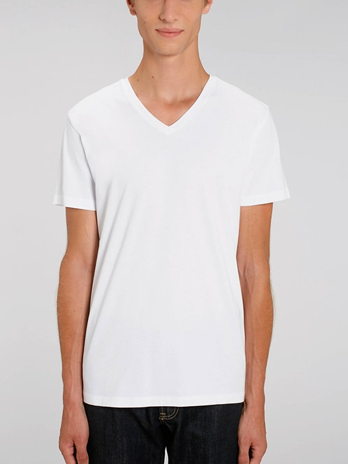 T-shirt 100% Coton Bio  - PRESENTER - col en V