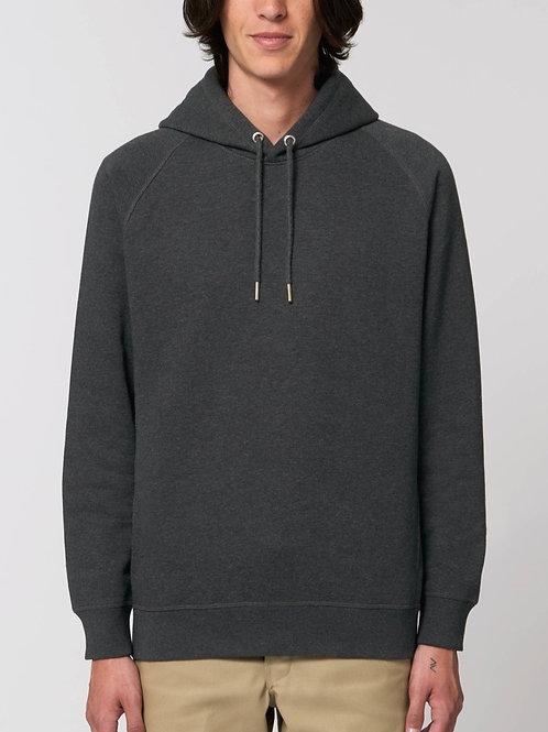 Sweatshirt BIO Homme avec capuche - SIDER - Coloris Chiné