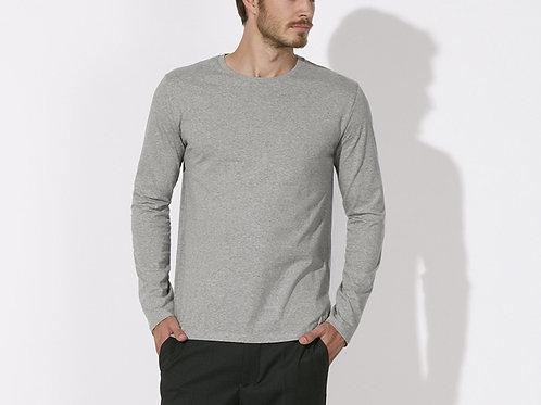 Tee-shirt manches longues - coton Bio équitable - Coloris Gris Chiné