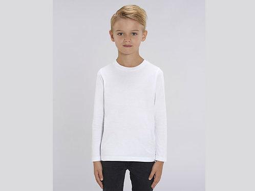 T-shirt bio Garçon - col rond- manches longues