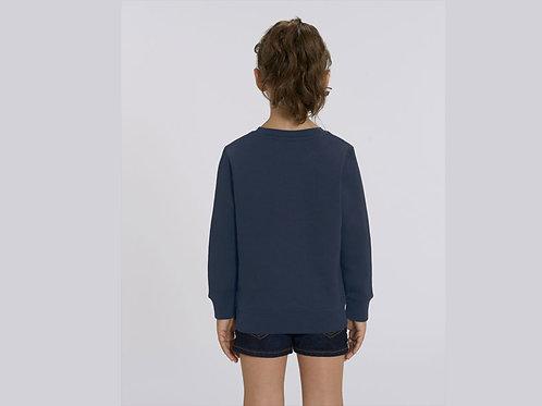 Sweatshirt Fille- Col rond - Couleurs. - MINI CHANGER