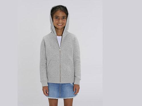 Sweatshirt Fille - Capuche et Zip - Couleurs chinés