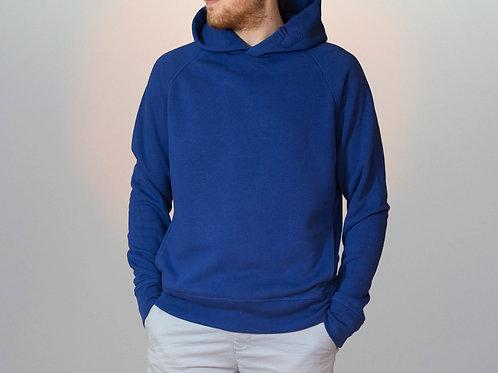 Sweatshirt BIO Homme avec capuche - Coloris Bleu Royal