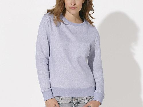 Sweatshirt  BIO ample à col ras du cou - chiné