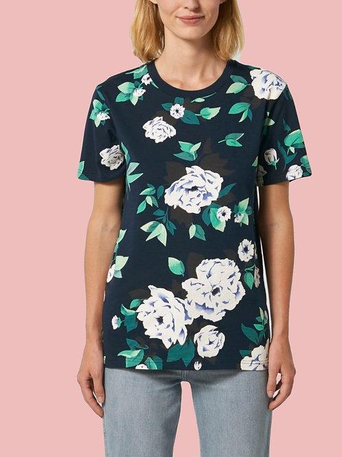 T-shirt Coton Bio - Motif fleuri