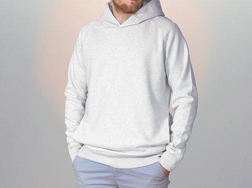 Sweatshirt BIO Homme avec capuche - Coloris Chinés -Crème Chiné