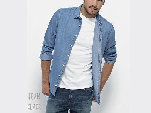 Chemise en denim bio pour homme coloris jean clair
