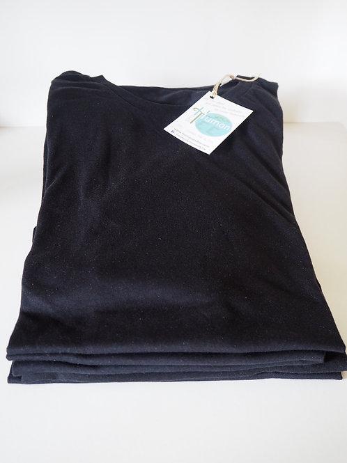 Lot de 5 Tee-shirts 100% Coton Bio doux équitable - Coloris Noir
