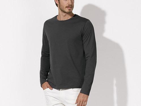 Tee-shirt manches longues - coton Bio équitable - Coloris Anthracite