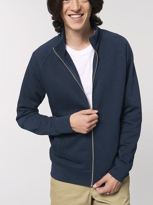 "Sweat-shirt  coton bio zippé ""Trailer"""